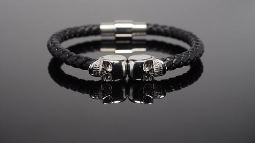 "Biker Bracelet for Men ""Chronos"" - Gentsbracelets UK"