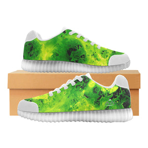 "Damen-Leuchtschuhe ""Light up Green"" (046)"