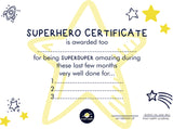 My Happy Journal Superhero certificate. Celebrate their bravery during lockdown