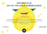 My Happy Journal celebrate their wondefulness certificate