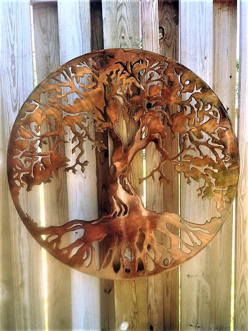 36 Inch Tree Of Life Metal Wall Art Customized