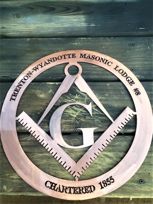 Masonic Lodge Logo Trenton Michigan Customized