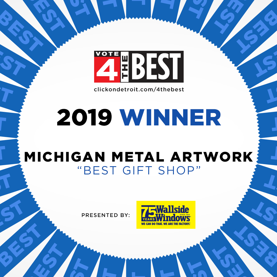 Michigan Metal Artwork Wins 2019 Best Gift Shop