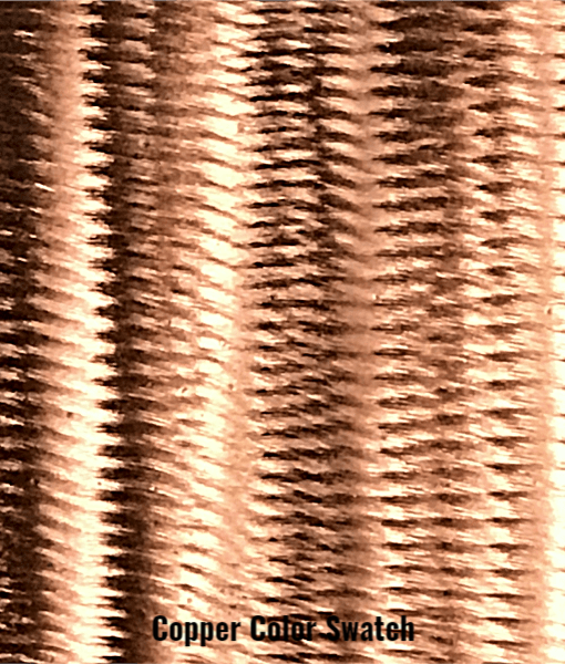 Copper Color Swatch - Michigan Metal Artwork