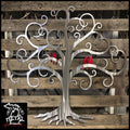 Curly Tree Of Life With Birds Metal Wall Art 24 X / Polished Red Trees & Leaves
