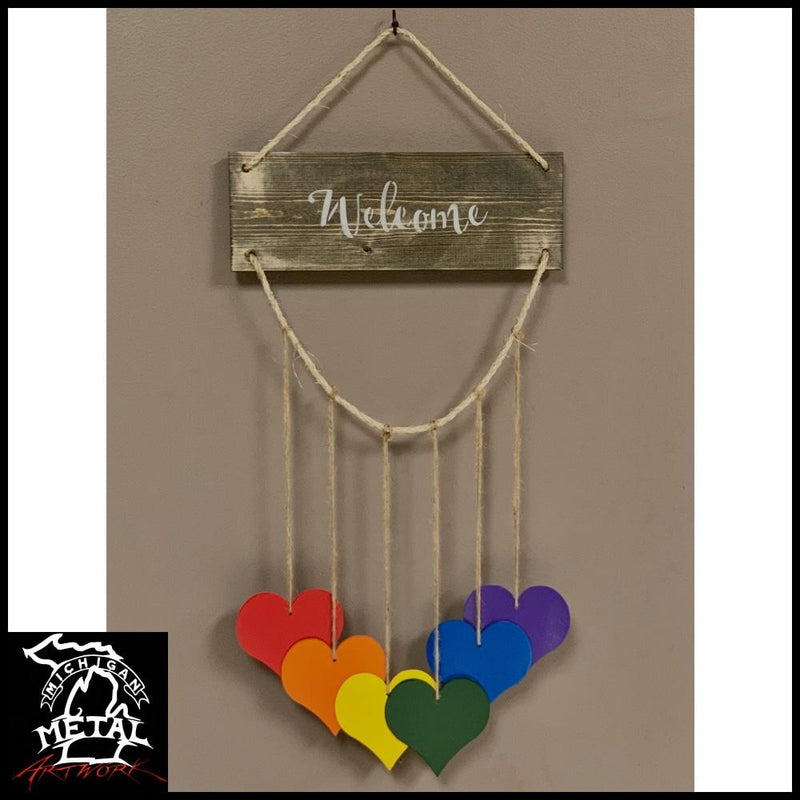 Hearts Of Harmony Hanging Decor Garden
