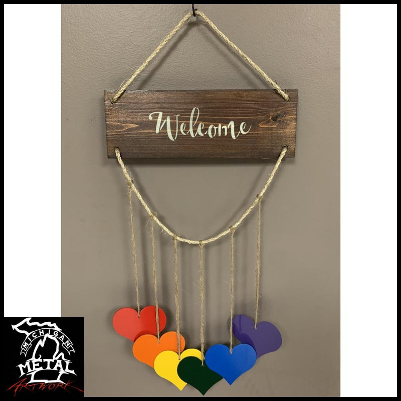 Hearts Of Harmony Hanging Decor Honeywood / Add Welcome Text Garden