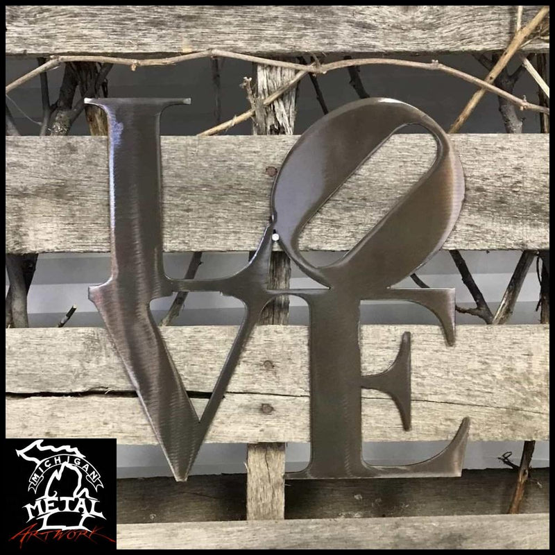 Love Metal Wall Art Pewter Decorative Words