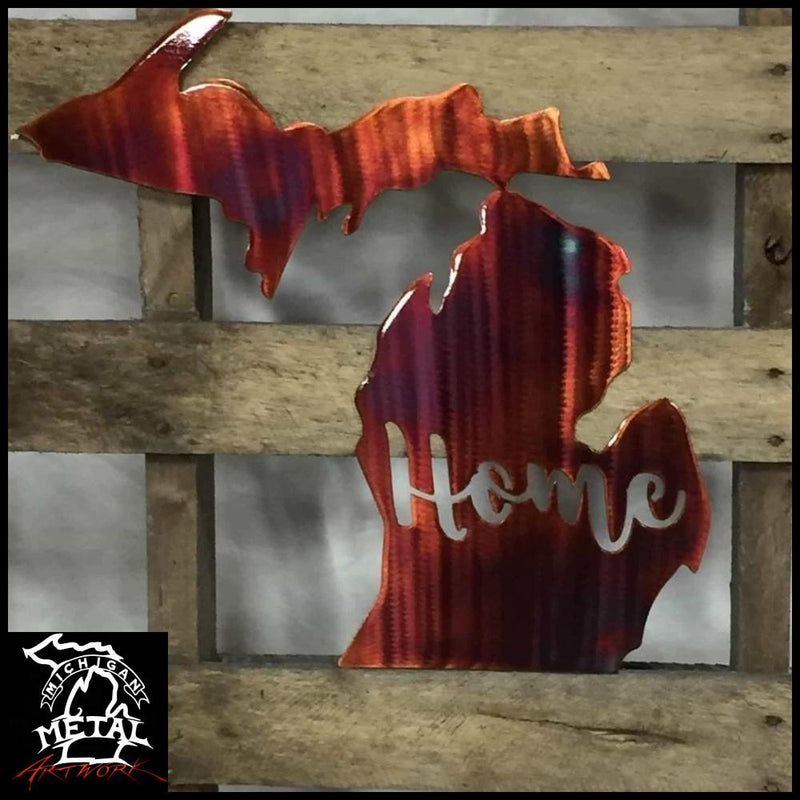 Michigan Home Metal Wall Art Themed