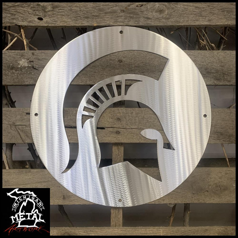 Msu Spartan Logo Metal Wall Art 12 Round Sports