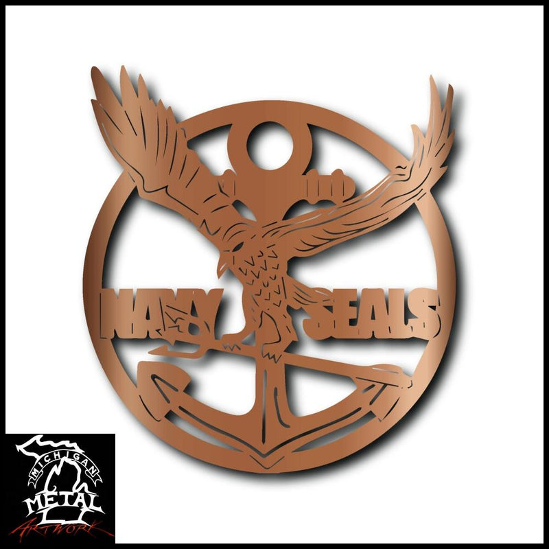 Navy Seals Metal Wall Art Copper Military