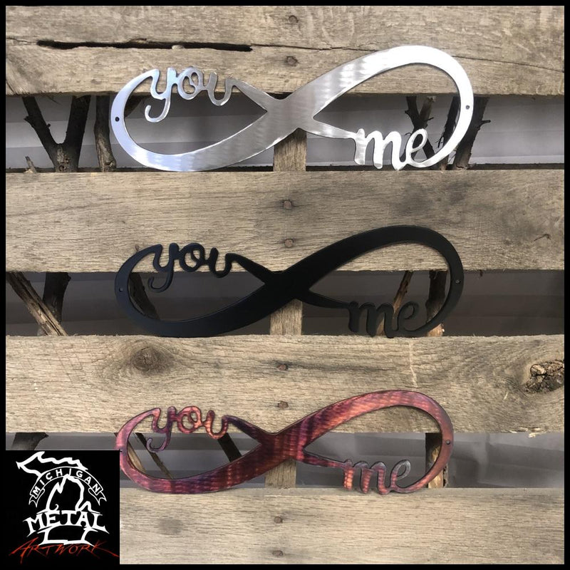 You & Me Infinity Band Metal Wall Art Novelty
