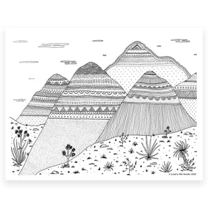 Dreaming of Joshua Tree  (Coloring Page)