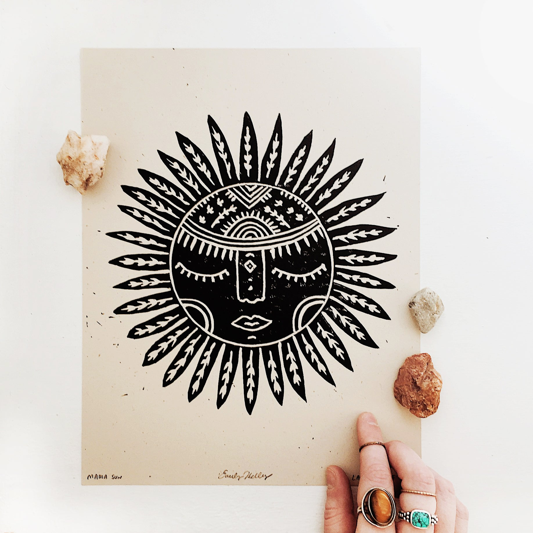 Sunflower Goddess Print