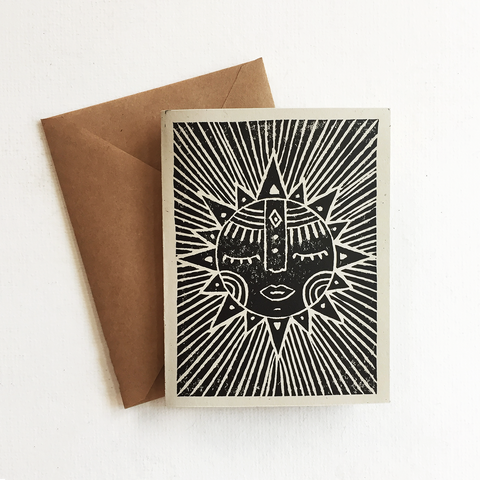 Mother Sun Greeting Card
