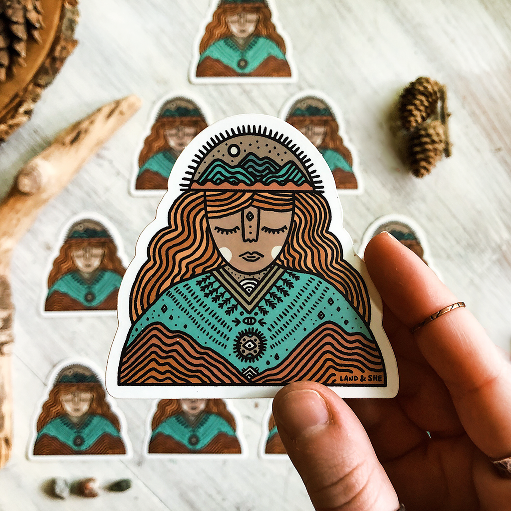 Mountain Goddess Sticker