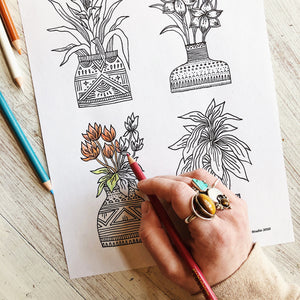House Plant Bundle (Coloring Page)