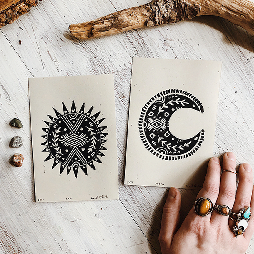 The Sun and Her Moon, Print Set