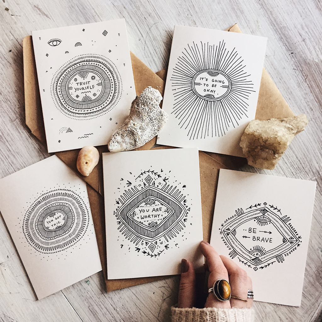 Set of 5 Positivity Cards