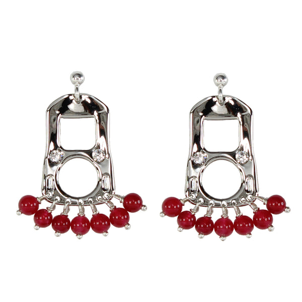 CAN TAB EARRINGS SML - PLD/RED