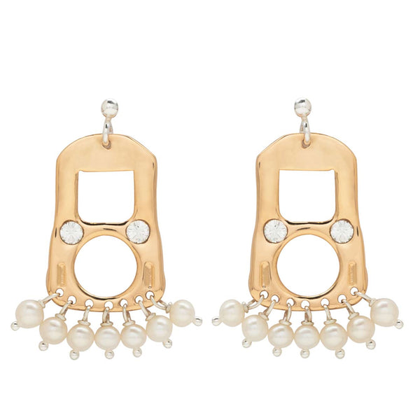 CAN TAB EARRINGS SML - GOLD