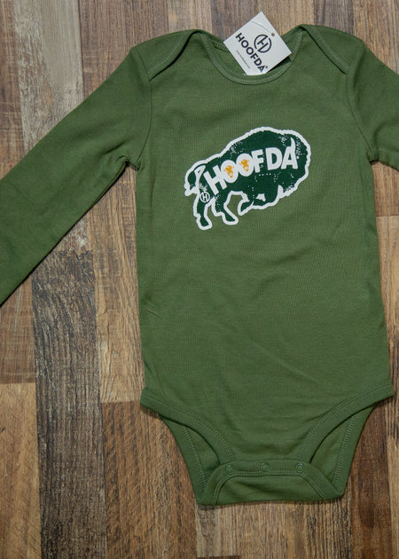 HOOFDA® Bison Flower Long Sleeve Onesie