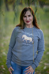 HOOFDA®  NORWEGIAN FJORD HORSE FLEECE SWEATSHIRT