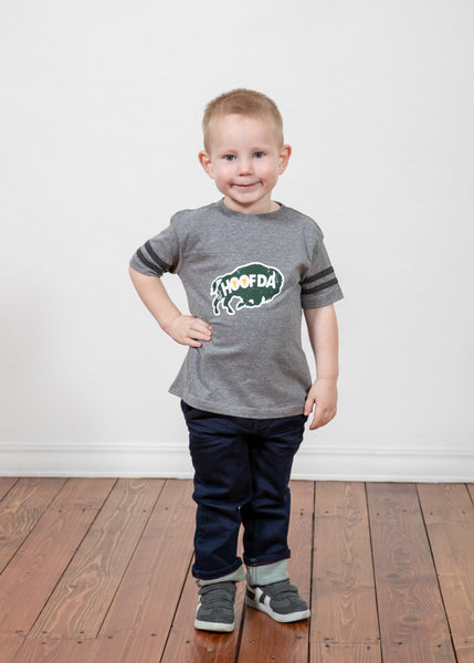 HOOFDA® Bison Toddler Football Jersey Tee