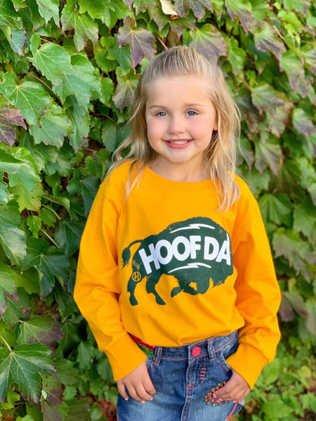 HOOFDA®  Bison Youth Long Sleeve Tee