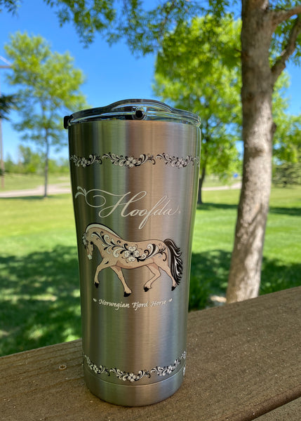 FJORD HORSE 20 oz Tumbler Stainless Steel With Hammer Lid