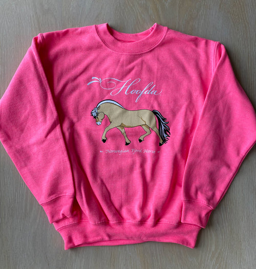 HOOFDA® Youth Norwegian Fjord Horse Heavy Blend - Fleece Sweatshirt