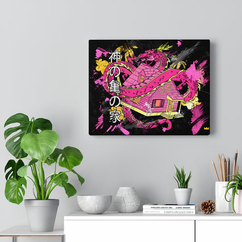 Divine Kame House [Pink Lemonade] Wall Canvas Art