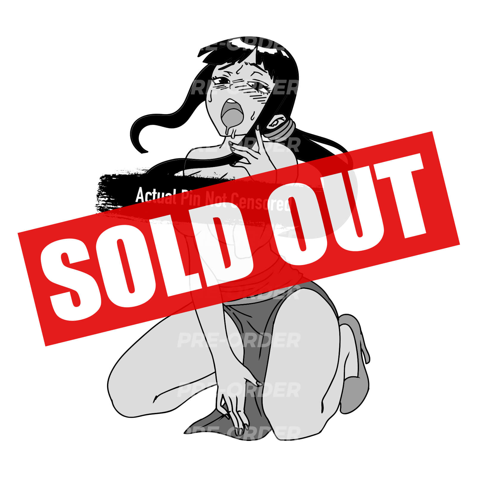 Ahegao Chi-Chi [OG] [NSFW] Enamel Pin (PREORDER)
