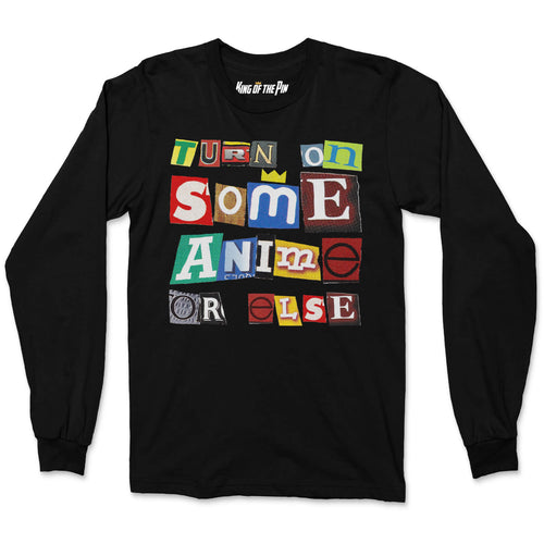 Anime Ransom Note (Black) L/S Shirt