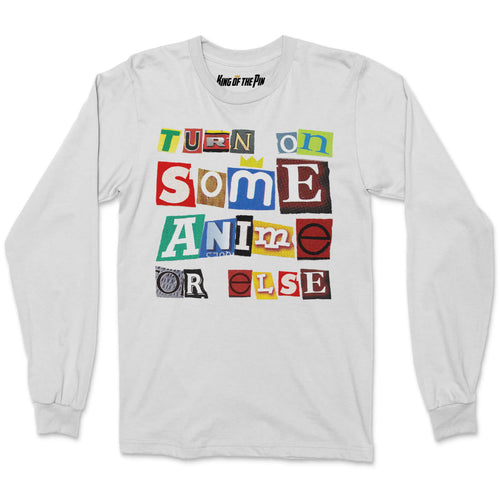 Anime Ransom Note (White) L/S Shirt