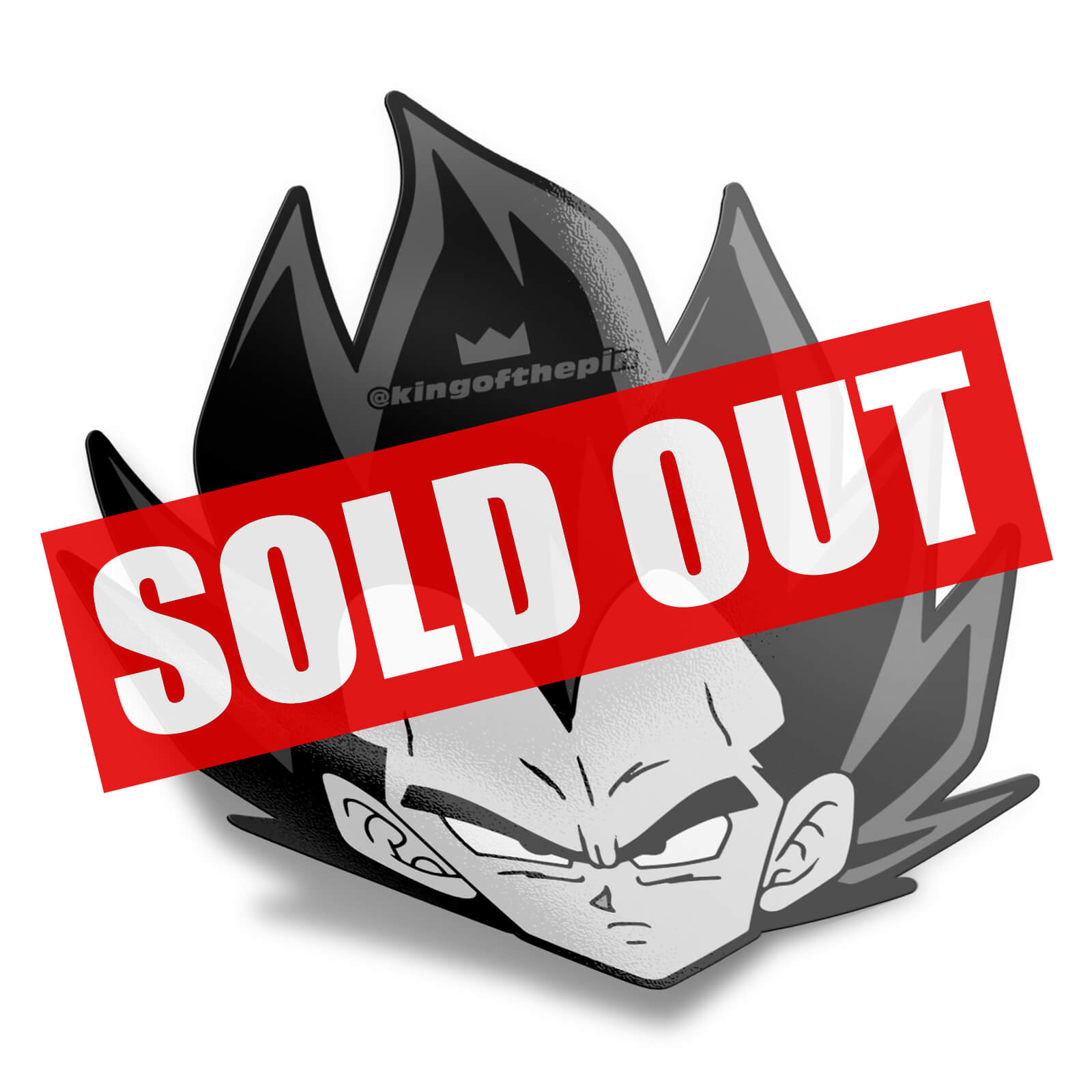 Badman Vegeta Head Sticker
