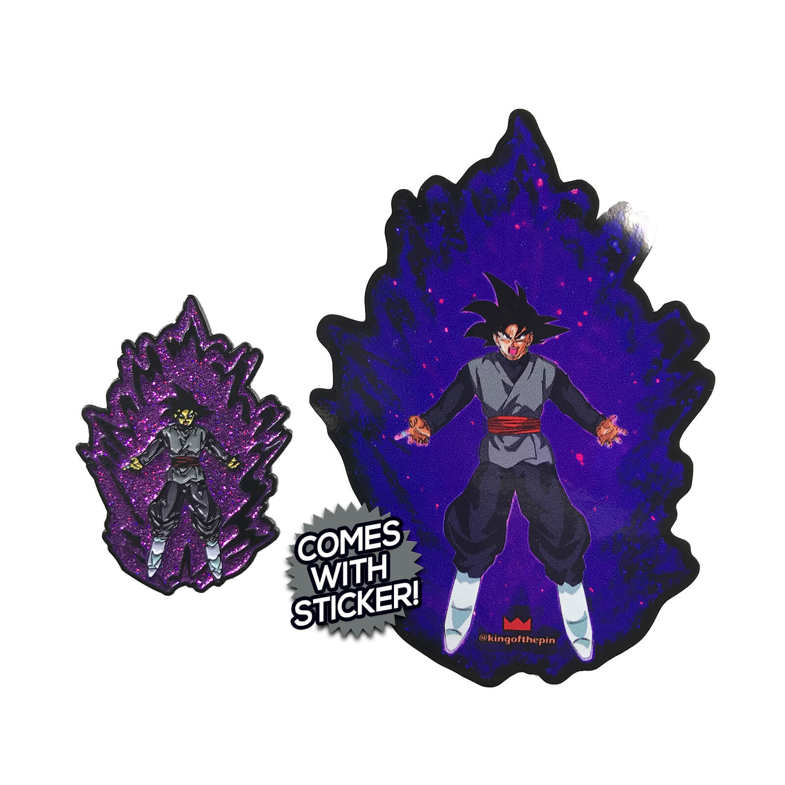 Goku Black Power Up Enamel Pin