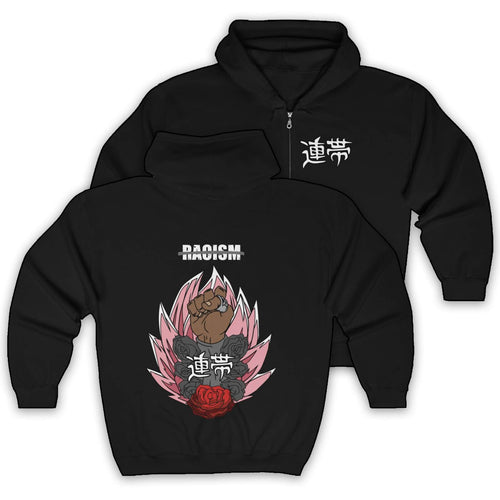 BLACK Solidarity Zip Up Hoodie