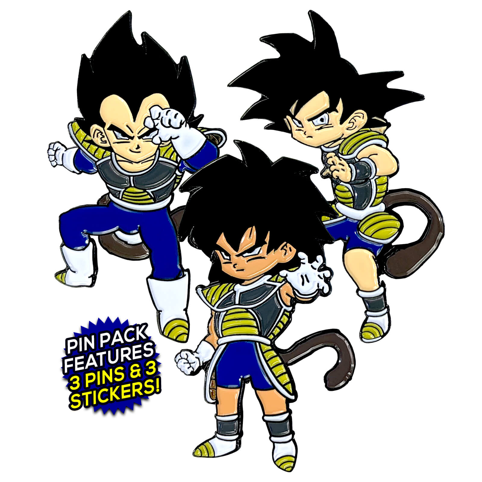Kid Saiyans [DBS Broly Movie] (3 Pin) Pin Pack [Includes 3 FREE Stickers]