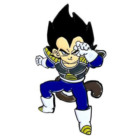Goku & Vegeta Shirtless Saiyans (2 Pin) Pin Pack [Includes 2 FREE Stickers]