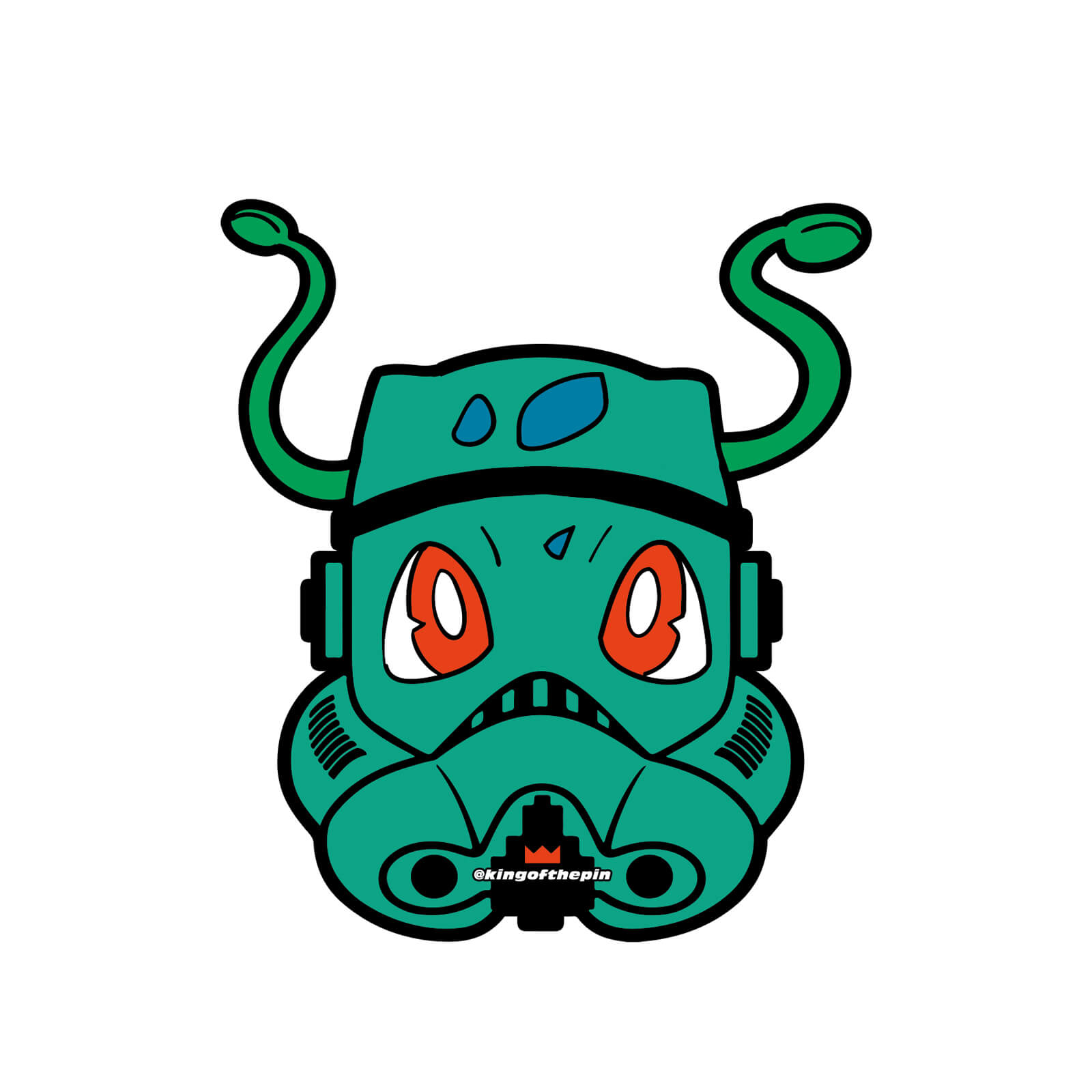 bulbasaur poketrooper sticker kingofthepin