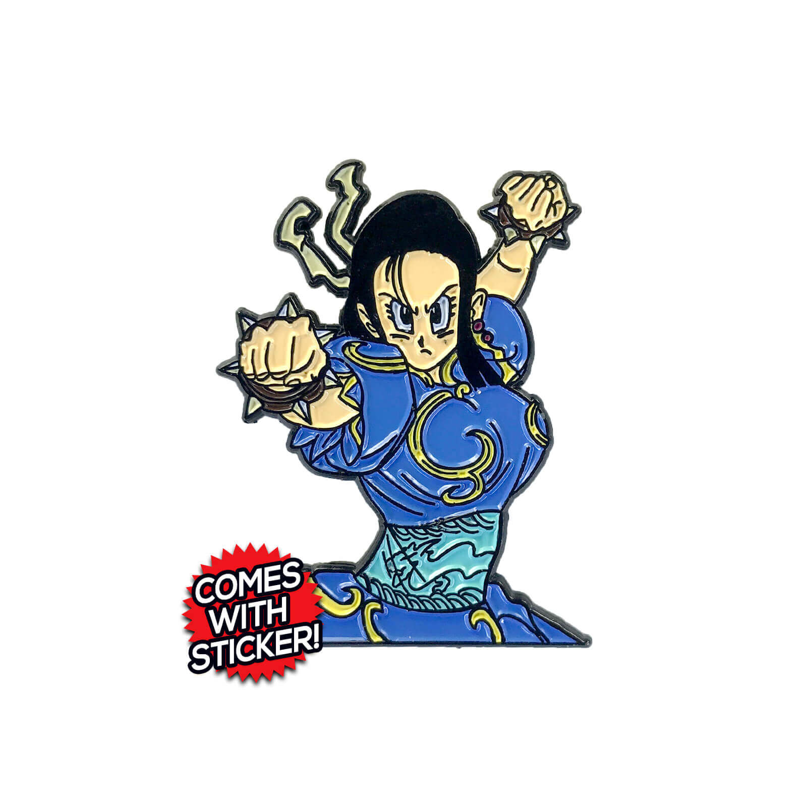 Chun-Chi (Street Fighter x Dragon Ball Z Mashup) Enamel Pin