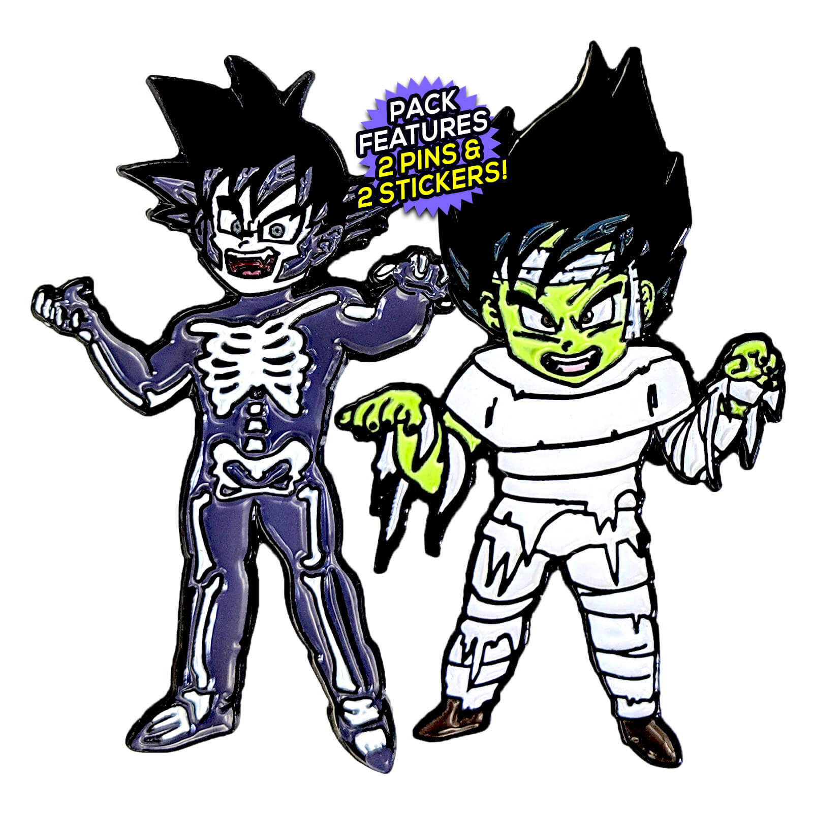 Goku & Vegeta Halloween 2018 (2 Pin) Pin Pack