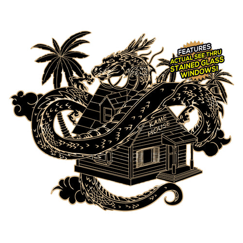 Divine Kame House [Murdered Black] Enamel Pin (PREORDER)