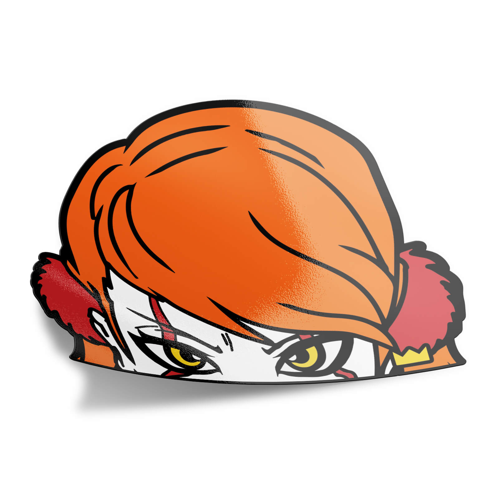 Female It/Pennywise Peeker Sticker