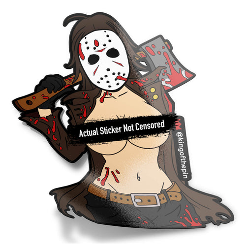 Female Jason Voorhees After Hours Sticker