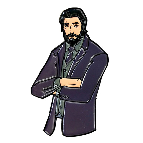 Fortnite John Wick Skin Enamel Pin