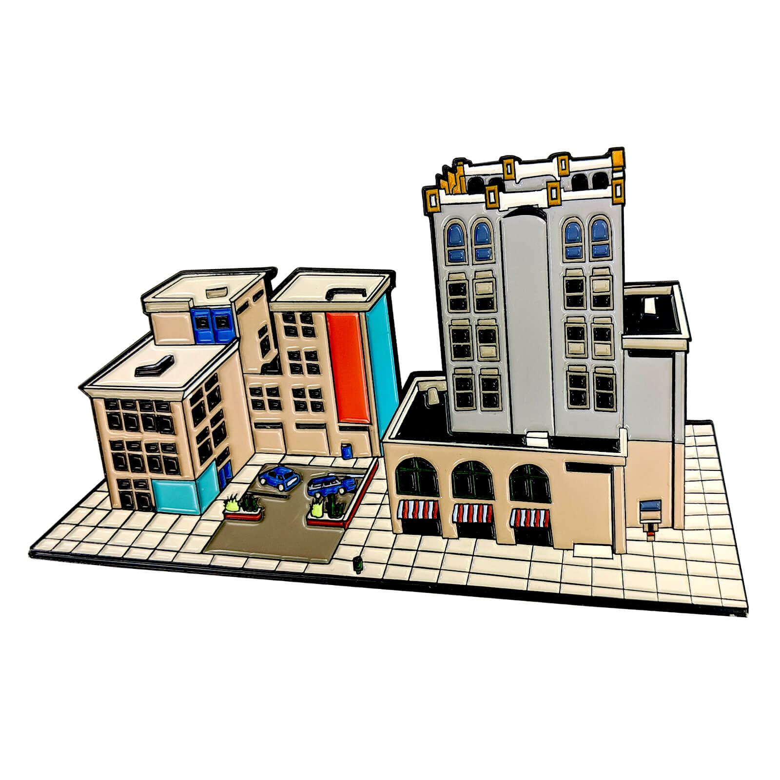 Fortnite Tilted Towers Enamel Pin