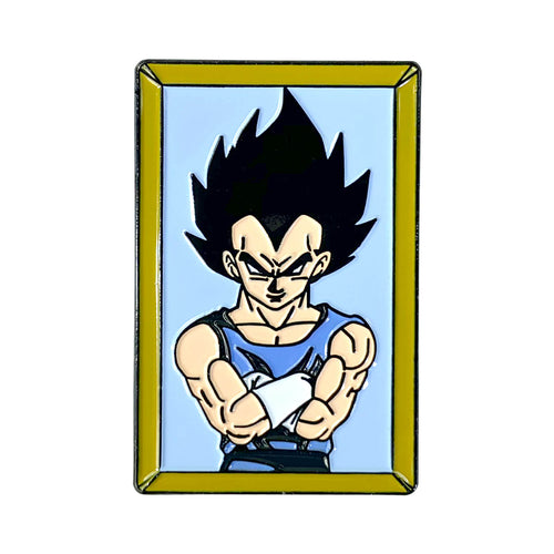 Framed Vegeta Photo Enamel Pin