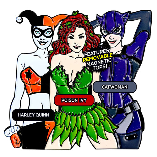 Gotham Girls After Hours (3 Pin) Pin Pack [Includes 3 FREE Stickers]